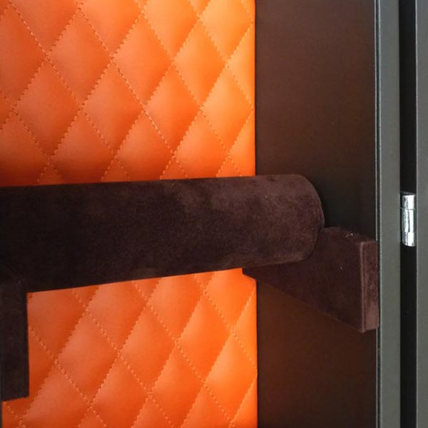 S0072 - Leather Jewelry Trunk Orange | Black