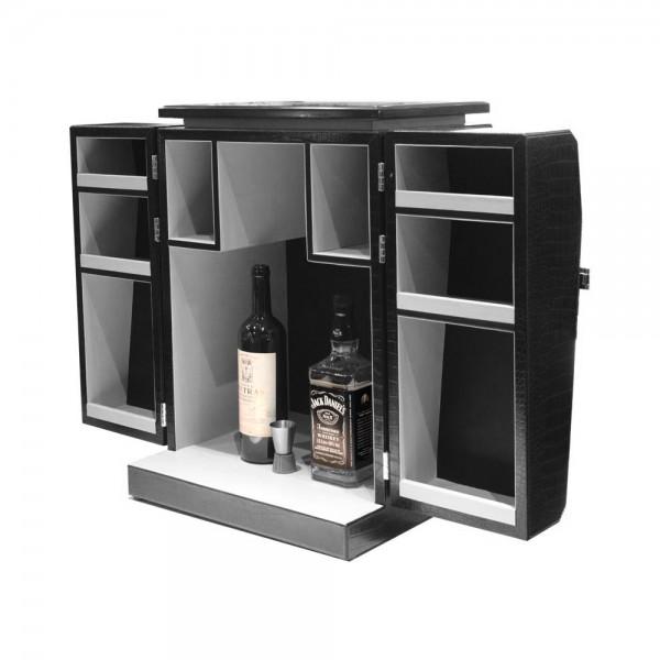 S0075/1 - Mini bar Cabinet Crocodile skin.