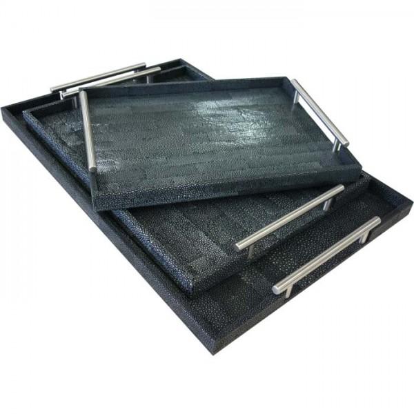 U1227, U1226  | Galuchat Tray with handle