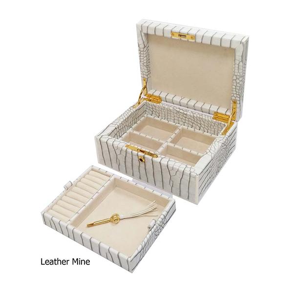 11680 | Faux Crocodile Jewelry Box