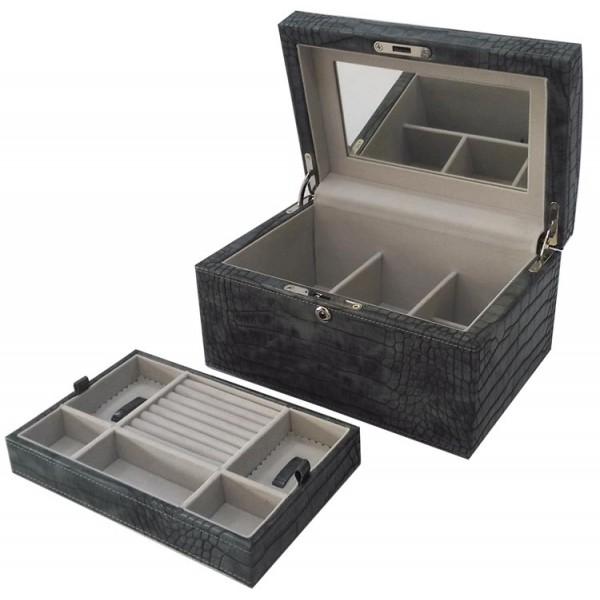 W0129 | Faux Crocodile Jewelry box