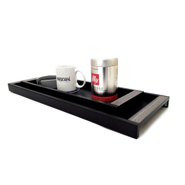 11437/2,11437/3 | Leather x Oakwood tray