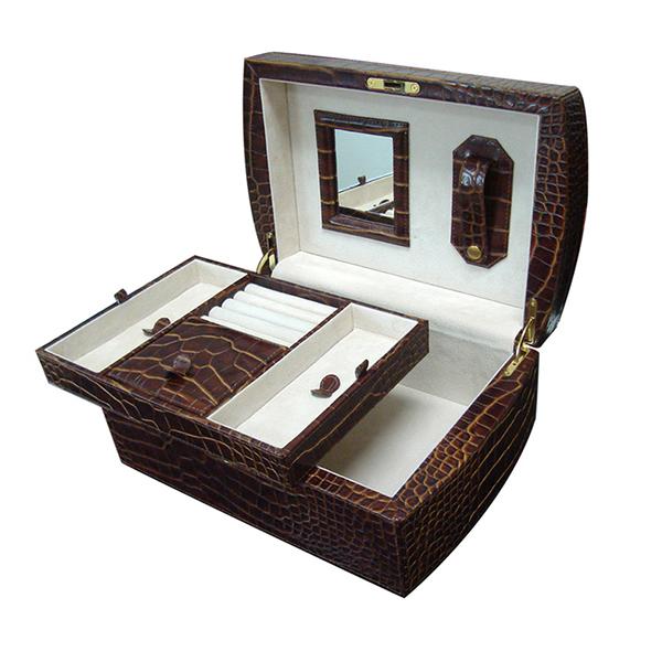 C0352 | Jewelry Box Set Croco Skin
