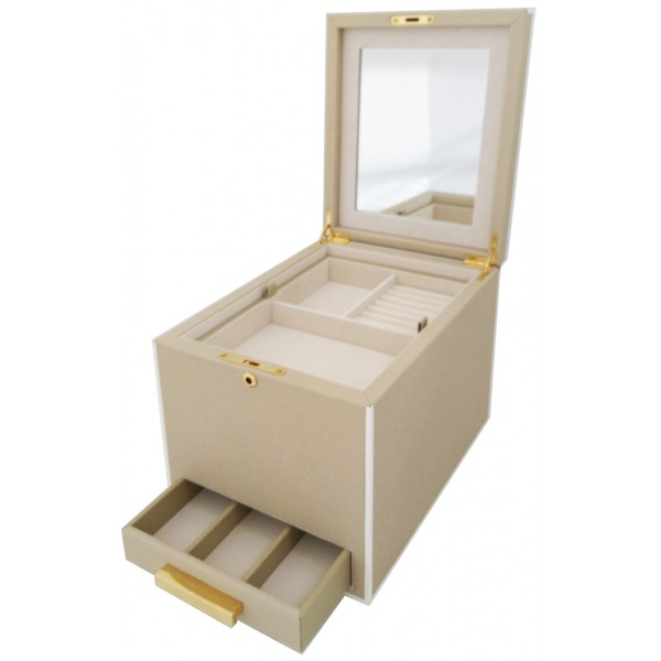 12322 - Jewelry Ivory Trunk Box