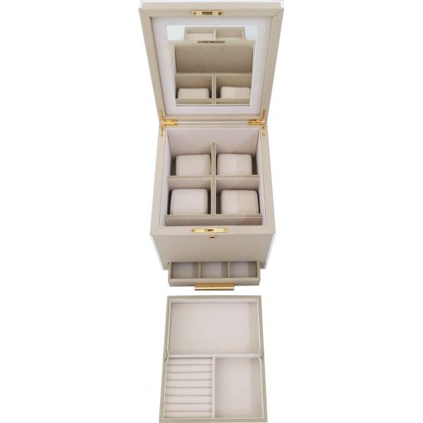 12322 - Jewelry Ivory Trunk Box