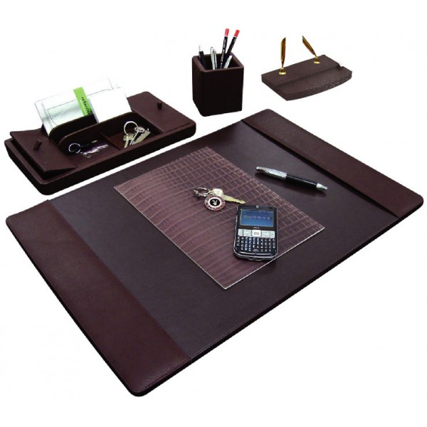 DS104 | Small milling leather desk set