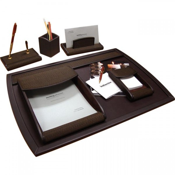 DS116 | Desk set Tatami Brown